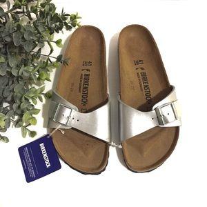 Birkenstock silver Madrid sandals, 41